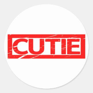 Cutie Stamp Classic Round Sticker