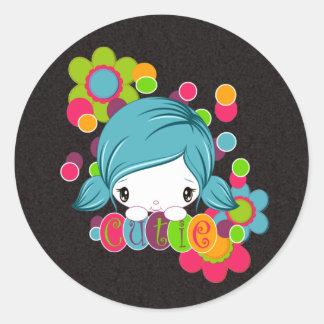 Cutie Round Sticker