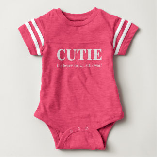 Cutie, the 8th dwarf baby bodysuit