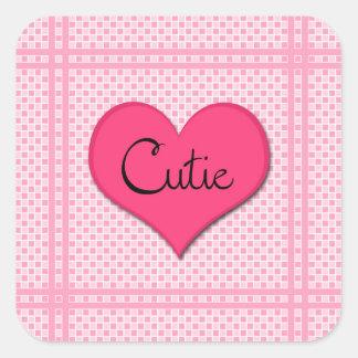 Cutie - Valentine Stickers! Square Sticker