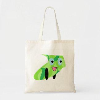 Cutieful Kids Art Design Cute Green Puppy Tote Bag