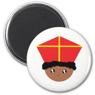 Cutieful Kids Art St. Nicholas Miter Zwarte Piet Magnet