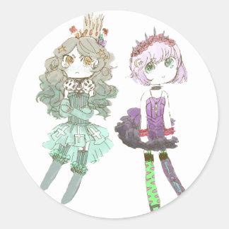 cuties round sticker