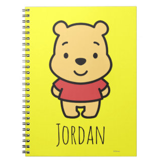 Cuties Winnie the Pooh - Personalized Note Books