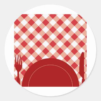 Cutlery & Dish Classic Round Sticker