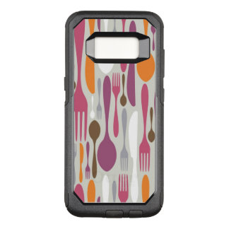 Cutlery Silhouette Icons Pattern 2 OtterBox Commuter Samsung Galaxy S8 Case