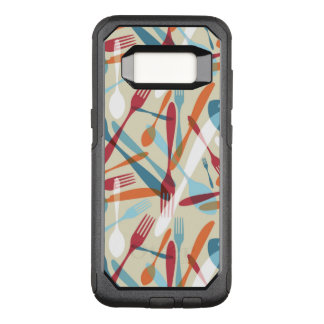 Cutlery Transparent Silhouette Pattern OtterBox Commuter Samsung Galaxy S8 Case
