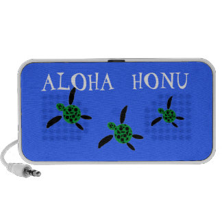 Cutomizable Text Honu Turtle Doodle Notebook Speakers