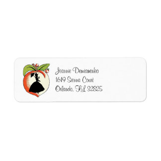 Cutomized Peach Southern Belle Return Address Label