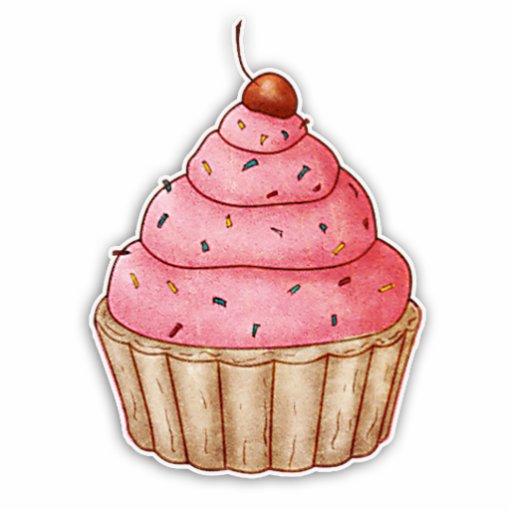 Cutout Cherry Cupcake, Yummy Cupcake Decoration Photo Cut Outs