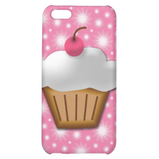 Cutout Cupcake with Pink Cherry on Top Cover For iPhone 5C