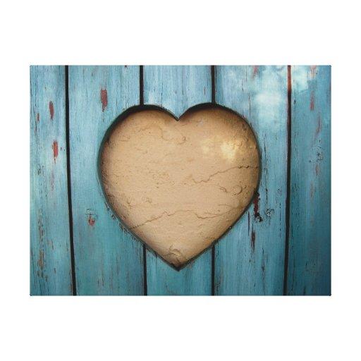 Cutout heart shape artistic gallery wrap canvas