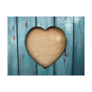 Cutout heart shape artistic gallery wrapped canvas