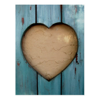 Cutout heart shape artistic postcard