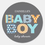 Cutout Letters Baby Shower Favour Sticker