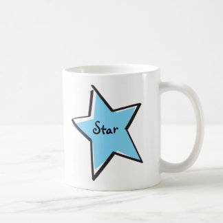 Cutout Light Blue Star Mug