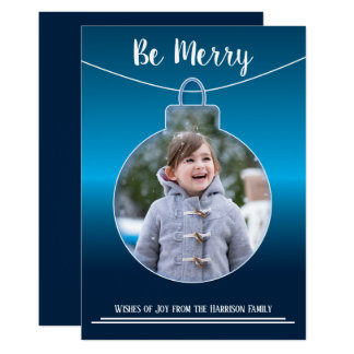 Cutout Ornament - Christmas - Flat Greeting Card