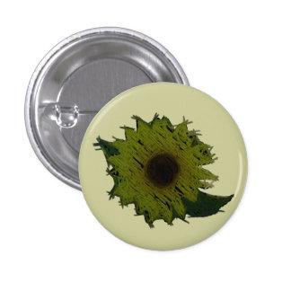 Cutout Straw Sunflower Button