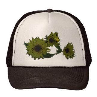 "Cutout ""Straw"" Sunflowers Hat"