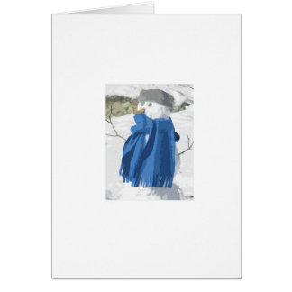 Cutout vintage effect snowman card