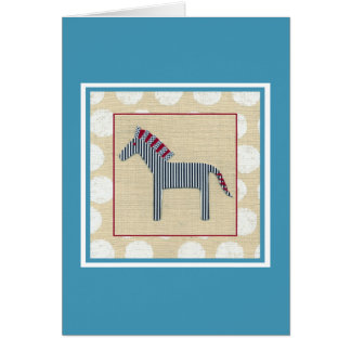 Cutout Zebra on Cream Background Greeting Card