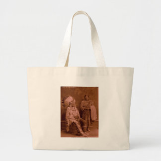 Cuts The Bear's Ears and Wife - Crow Large Tote Bag