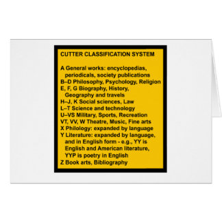 Cutter Expansive Classification Cards