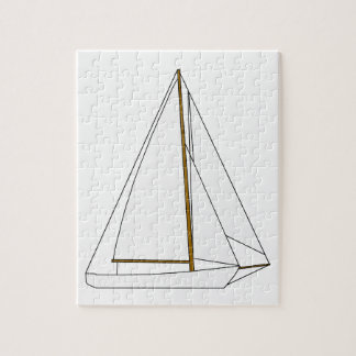 Cutter Sailboat Illustration Jigsaw Puzzle