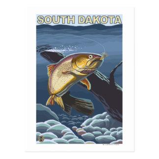 Cutthroat Trout FishingSouth Dakota Postcard