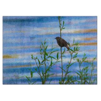 Cutting Board Bird on the Lake