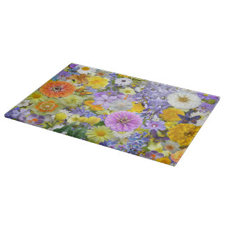 Cutting Board - Flowers and Butterflies