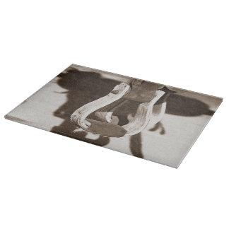 Cutting Board Glass Western Ranching
