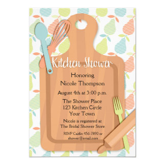 Cutting Board, Utensils, Kitchen Bridal Shower Card