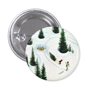Cutting Down the Tree 3 Cm Round Badge