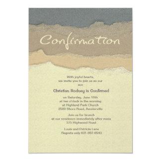Cutting Edge Confirmation Invitation