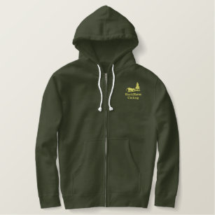 Cutting Horse with Cow Emb Front Zip Sweatshirts
