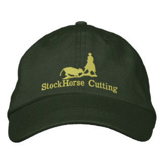 Cutting Horse with Cow Silhouette Cap