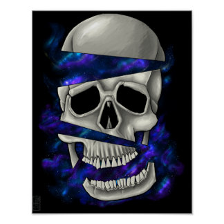 Cutting Skull Poster