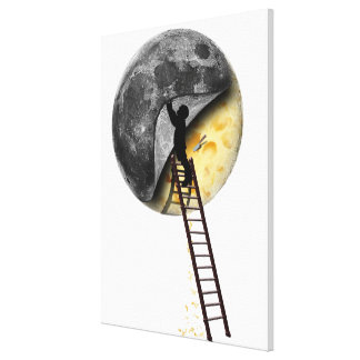 Cutting The Cheese Stretched Canvas Print