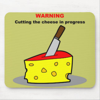 cutting the cheese mouse pad
