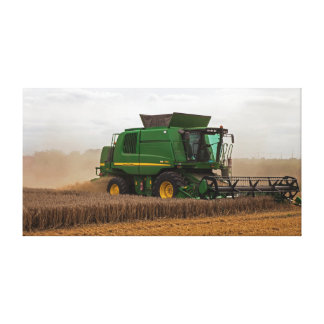 Cutting the wheat! canvas print