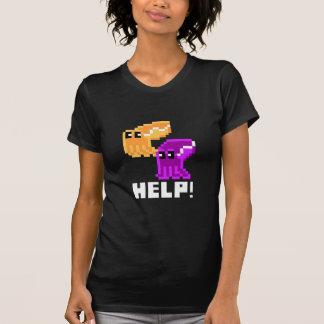 Cuttlefish Danger 'Help!' Pixel Art Womens T-shirt