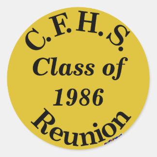Cuyahoga Falls High School Reunion - gold sticker