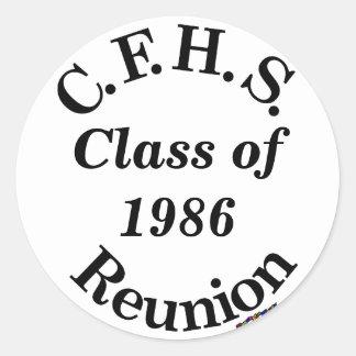 Cuyahoga Falls High School Reunion - white sticker