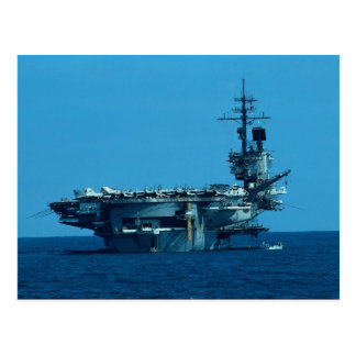 "CV-66 ""USS America"" decommissioning in 1996, stern Postcard"