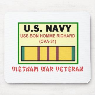 CVA-31 BON HOMME RICHARD VIETNAM VET MOUSE PAD
