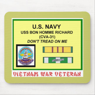 CVA-31 BON HOMME RICHARD VIETNAM WAR VET MOUSE PAD