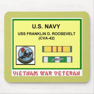 CVA-42 FRANKLIN D. ROOSEVELT VIETNAM WAR VET MOUSE PAD