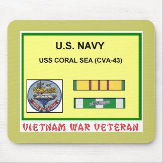 CVA-43 CORAL SEA VIETNAM WAR VET MOUSE PAD