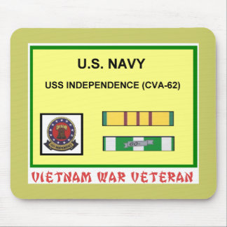 CVA-62 INDEPENDENCE VIETNAM WAR VET MOUSE PAD
